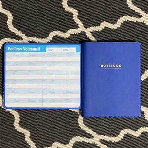 Refillable Notebook & Voicemail Pad